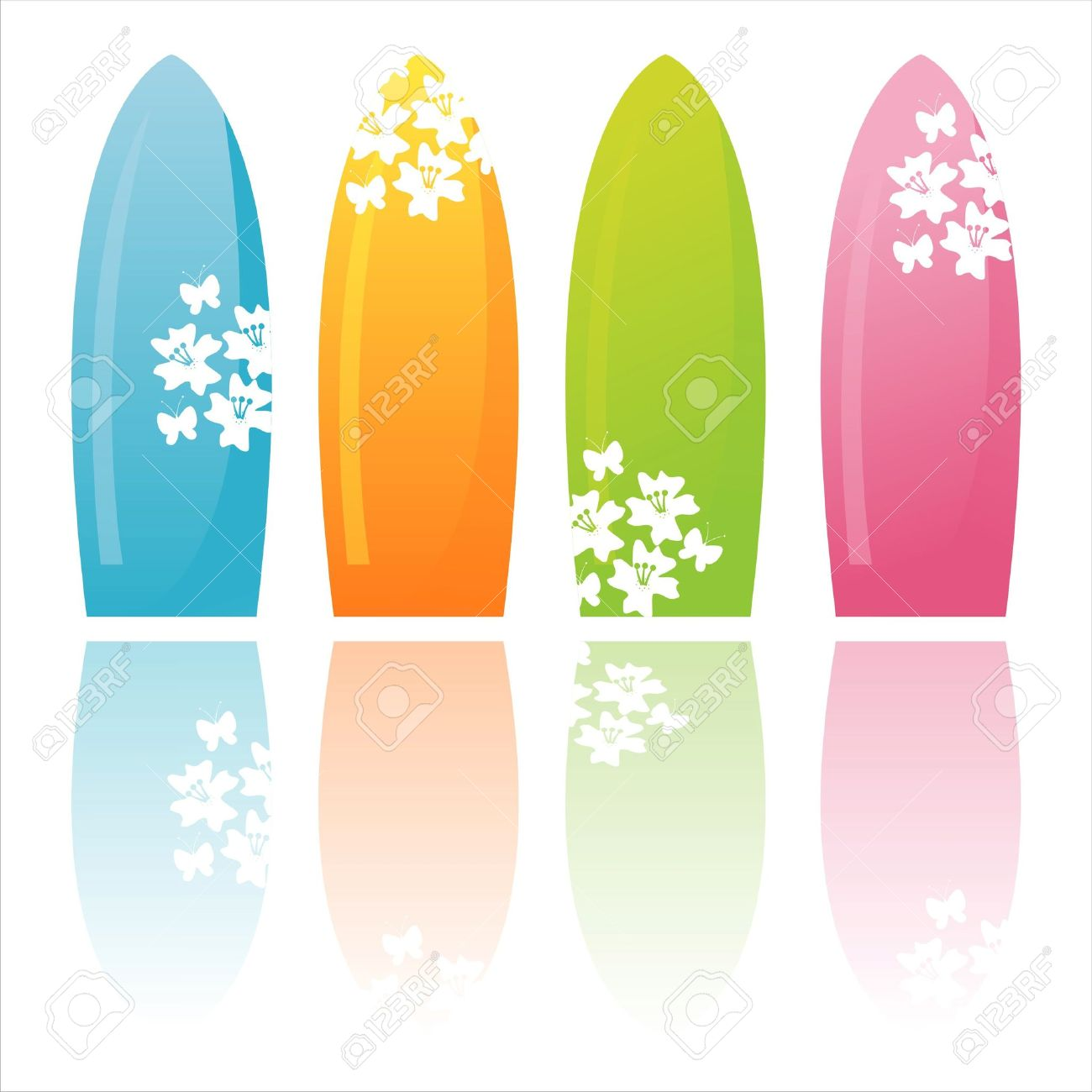 1300x1300 Surfboard Clipart Colorful