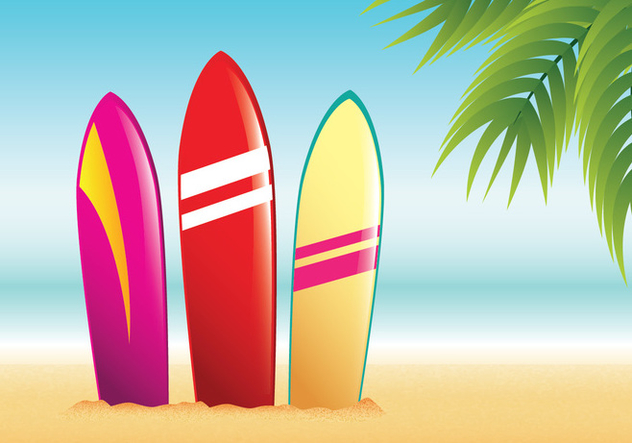 632x443 Surfboard Summer Beach Vector Free Vector Download 429051 Cannypic