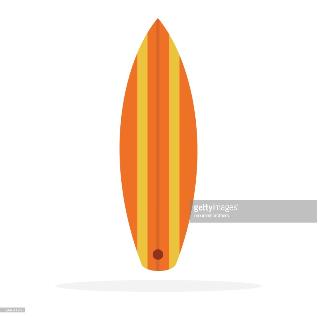 1024x1024 Surfboard Vector Clip Art