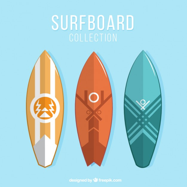 626x626 Abstract Surfboards Vector Free Download