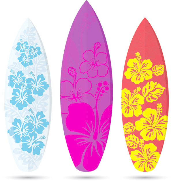 600x627 Pattern Vector Of Surfboard Free Download Eps Files