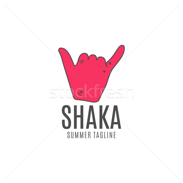 600x600 Shaka Vector Logo Icon. Surfing Symbol. Shaka Logo. Surf Icon