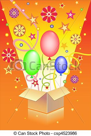 315x470 Box With Surprise On The Orange Background.