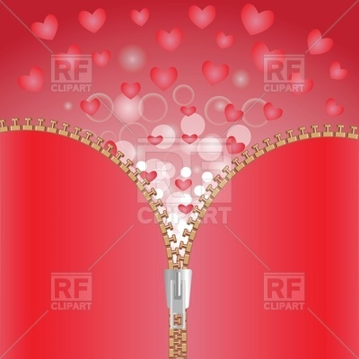 400x400 Opening Zipper On Background Of Hearts
