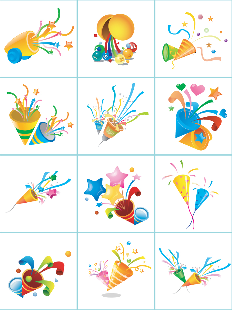 800x1068 Party Vector Pack With Cone Surprise