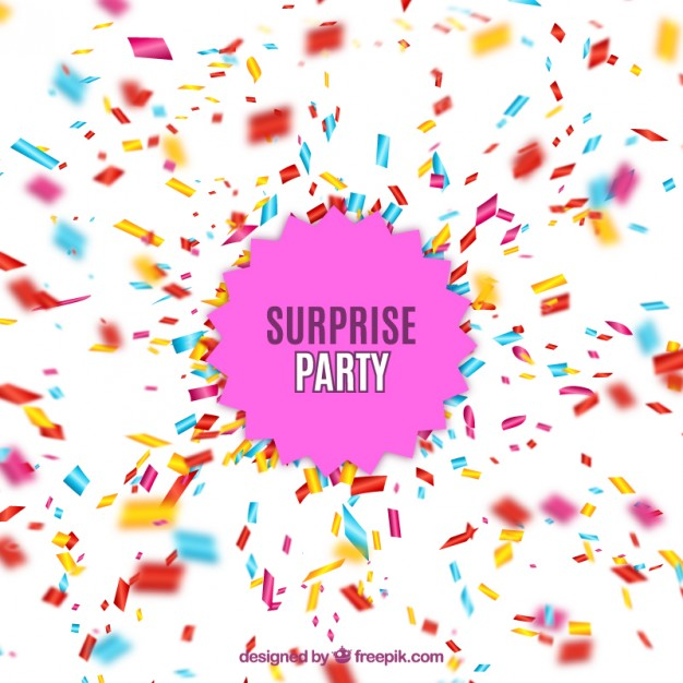 626x626 Surprise Party With Confetti Explosion Vector Free Download