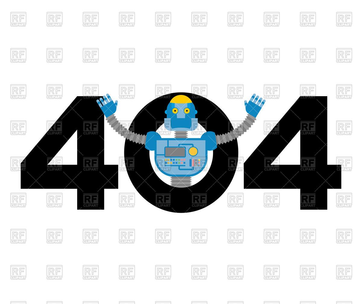1200x1009 Error 404 Robot Surprise. Vector Image Vector Artwork Of Fonts