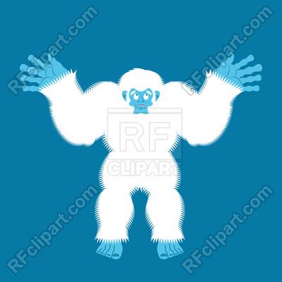 400x400 Yeti Guilty. Bigfoot Surprise. Vector Image Vector Artwork Of
