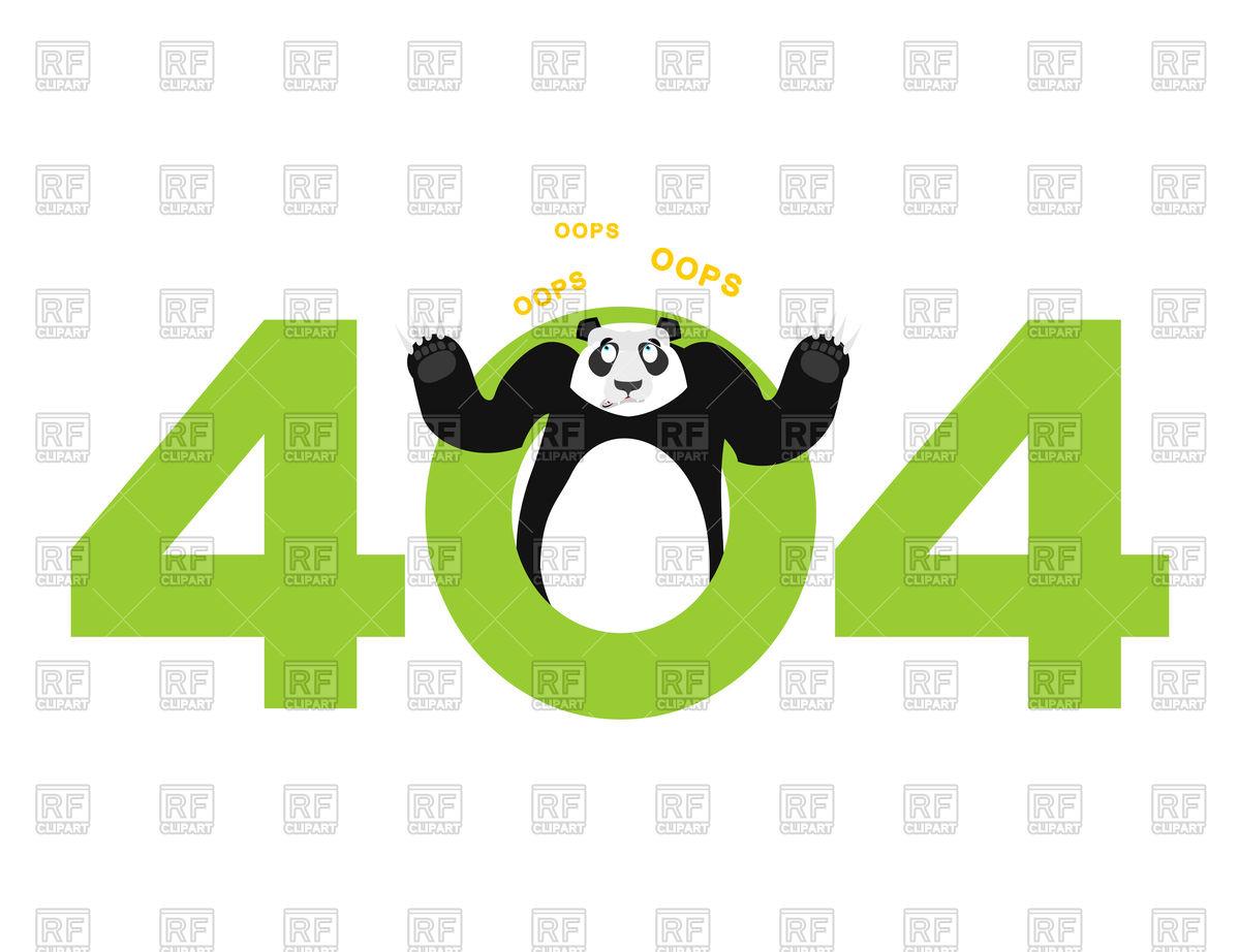 1200x922 Error 404. Panda Surprise. Vector Image Vector Artwork Of Fonts