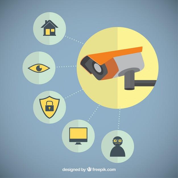 626x626 Security Camera Vector Free Download