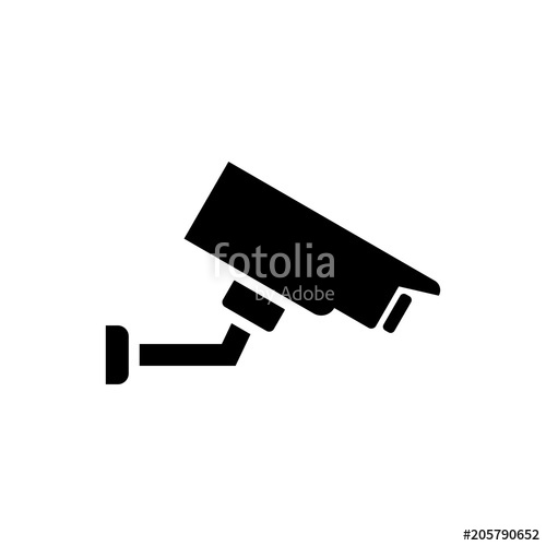 500x500 Security Camera Vector Icon Stock Image And Royalty Free Vector