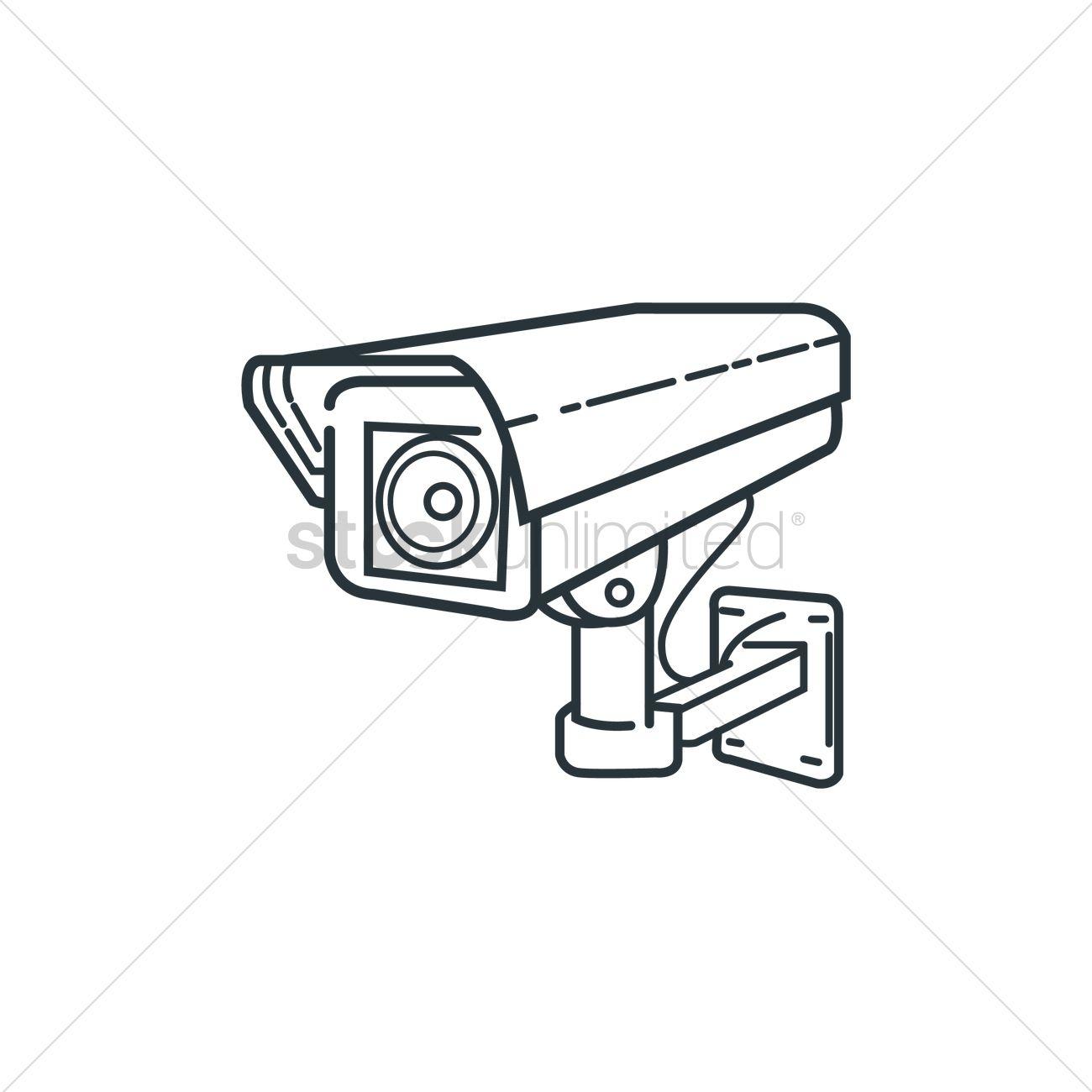 1300x1300 Surveillance Camera Vector Image