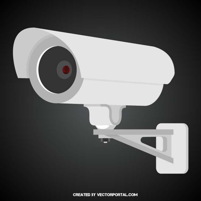 660x660 Surveillance Camera Vector Graphics. Technology Vector