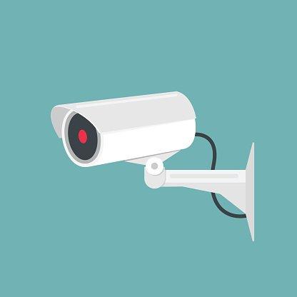 416x416 Video Surveillance, Camera Vector Illustration Premium Clipart