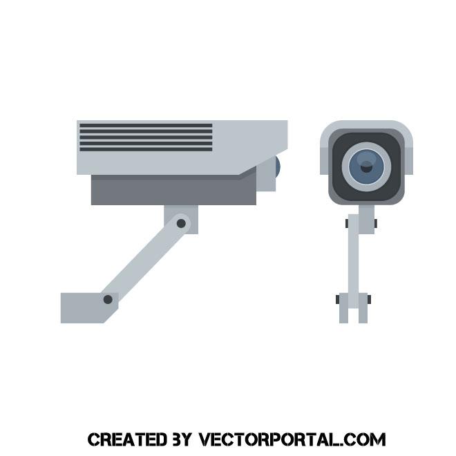 660x660 Wireless Surveillance Camera Vector