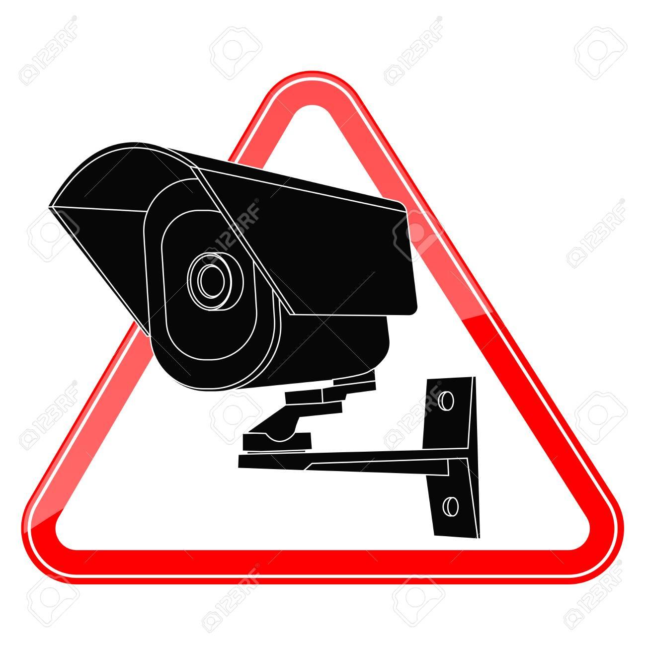1300x1300 Video Surveillance Camera Sign. Cctv