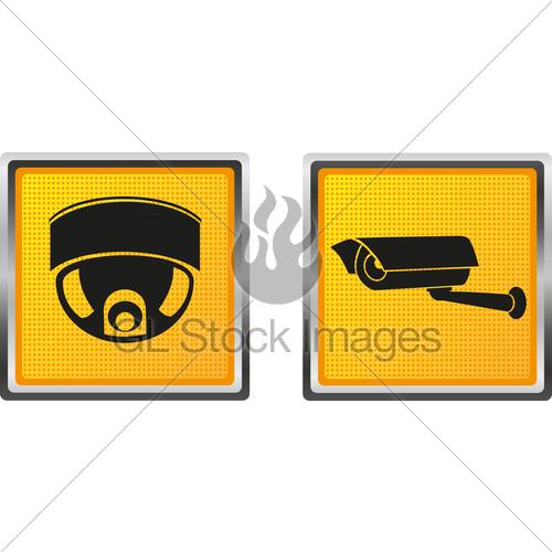 500x500 Icons Video Surveillance Camera For Design Vector Illustr... Gl