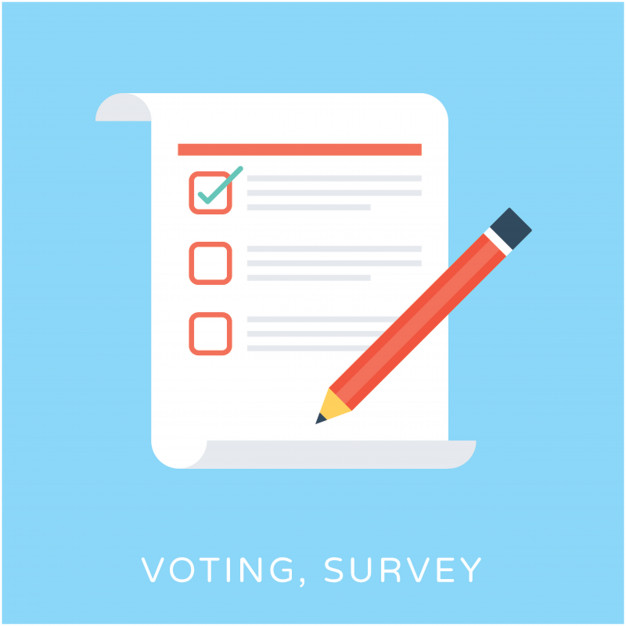 626x626 Voting Survey Flat Vector Icon Vector Premium Download
