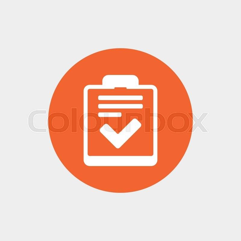 800x800 Checklist Sign Icon. Control List Symbol. Survey Poll Or