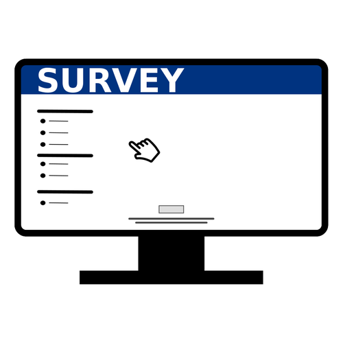 500x500 Online Computer Survey Icon Vector Image Public Domain Vectors