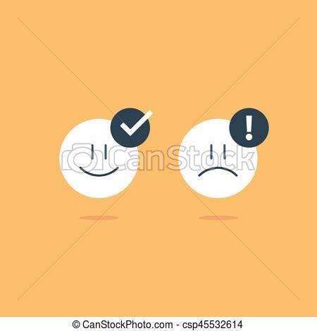 450x470 Opposite Emotions, Smile Emoji, Sad Icon, Customer Services