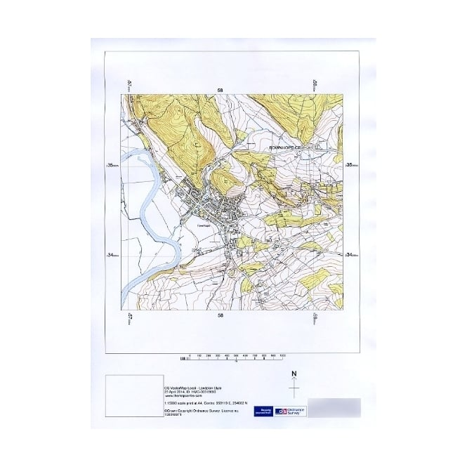 665x665 Ordnance Survey 110,000 Vector Map