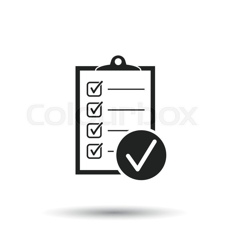 800x800 Checklist Vector Icon. Survey Vector Illustration In Flat Design