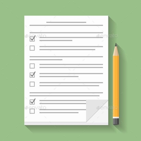 590x590 Survey Check Box, Flat Design And Font Logo