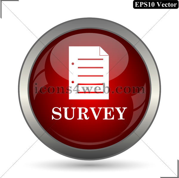 600x597 Survey Vector Icon. Survey Vector Button. Eps10