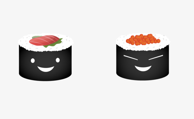 650x400 Cartoon Sushi Roll, Sushi Rolls, Food Sushi Roll Png And Vector