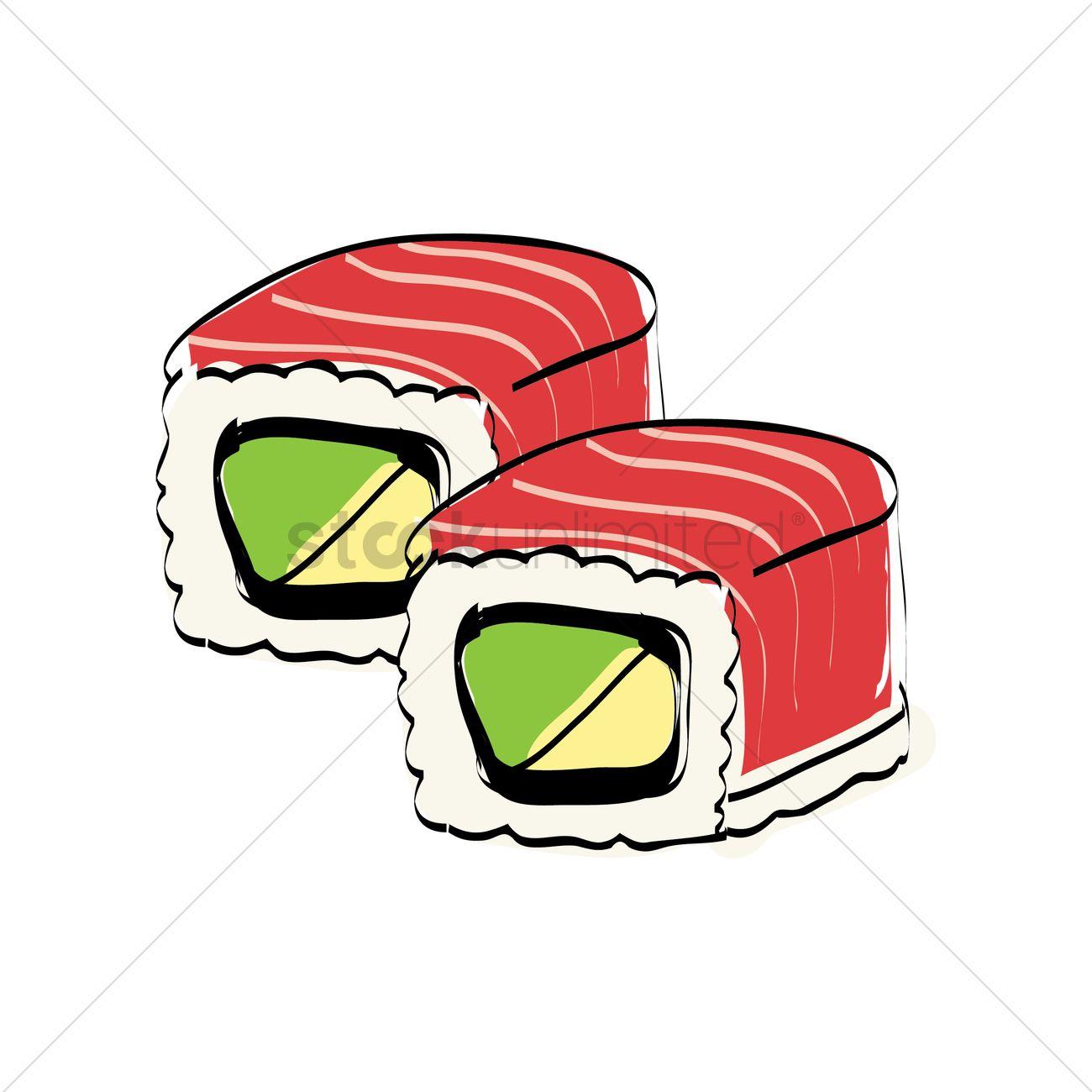 1300x1300 Sushi Rolls Vector Image