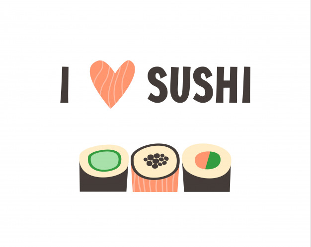 626x498 Sushi. Japanese Food Sushi Roll Vector Illustration. Vector