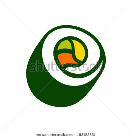 450x470 Vector Sushi Roll Sign Branding Corporate Logo Isolated On White