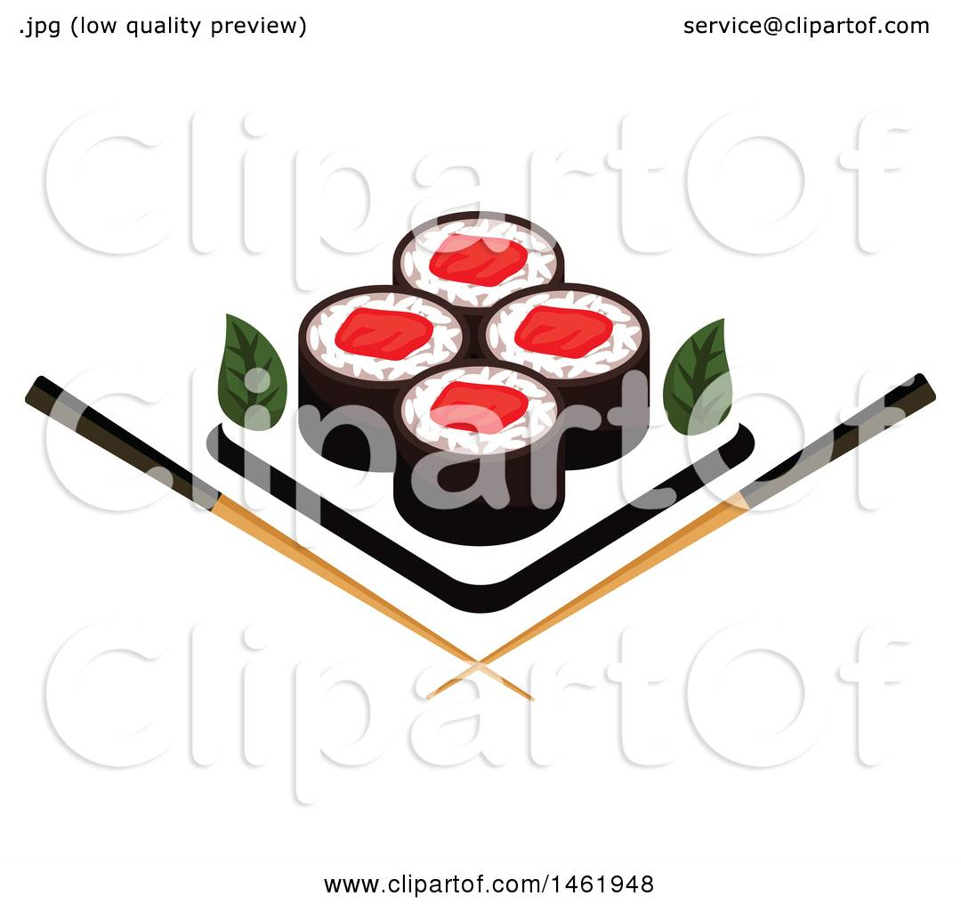 1080x1024 Clipart Of A Sushi Roll Design
