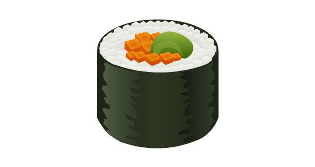 640x341 Drawn Sushi Sushi Roll