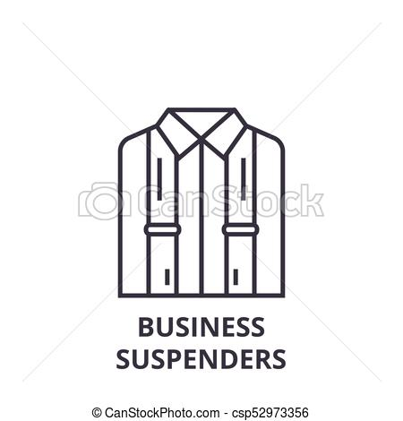 450x470 Business Suspenders Line Icon, Outline Sign, Linear Symbol, Vector