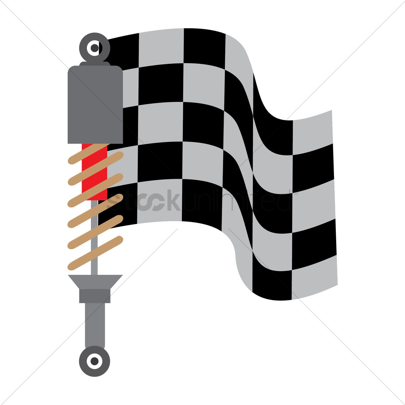 1300x1300 Race Flags With Vehicle Suspension Vector Image