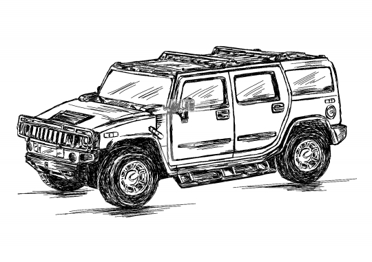 540x381 4x4 Sports Utility Vehicle Suv Vector Stock Illustration