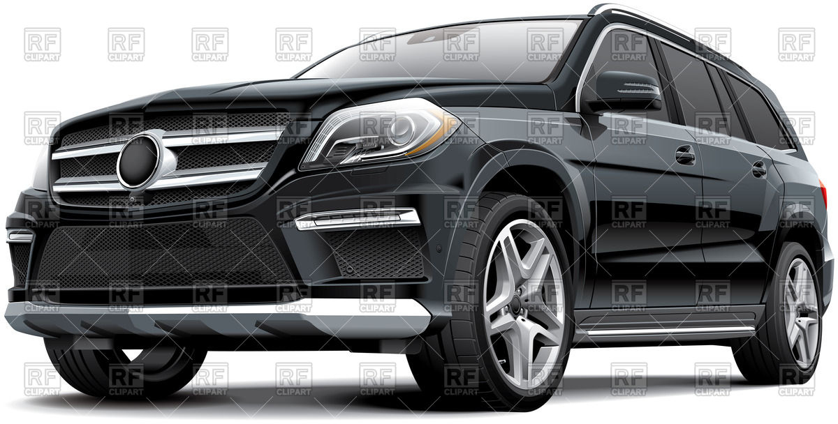 1200x608 Realistic German Full Size Luxury Suv Vector Image Vector