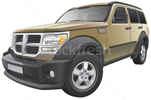 600x400 American Compact Suv Vector Illustration Gennady Poddubny (Busja