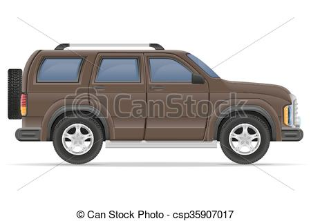 450x320 Suv Car Vector Illustration Isolated On White Background.