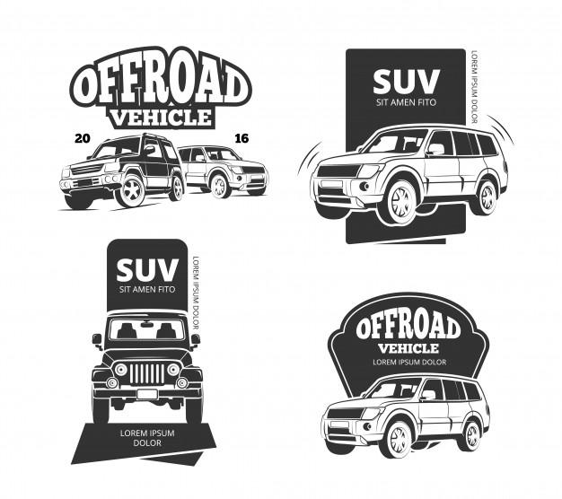 626x556 Vintage Suv Car Vector Badges Vector Premium Download