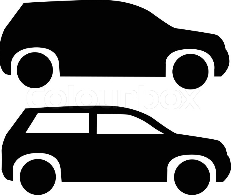 800x676 Black Suv Car Icon Isolated On White Stock Vector Colourbox