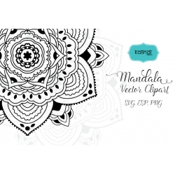 250x250 Namaste Mandala Svg. Namaste Lotus Vector Clipart. Yoga Svg