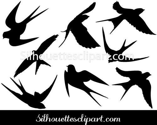 500x400 Swallow Vector Graphics Download Here Silhouettes Vector