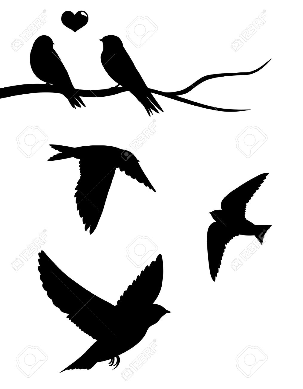 1014x1300 Swallow Bird Vector