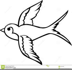 300x290 Swallow Clipart Black Bird