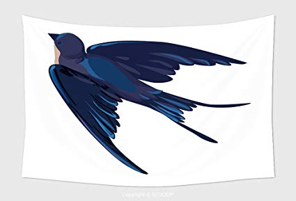 425x289 Home Decor Tapestry Wall Hanging Swallow Vector Vector