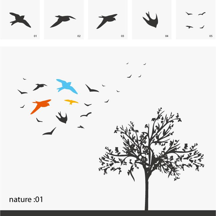 730x732 Swallow Trees Vector Hawks Free Vector 4vector