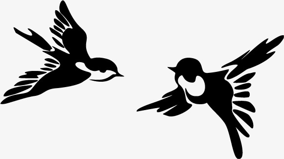 580x325 Two Flying Swallow Vector, Two Swallows, Swallow, Fly Png And